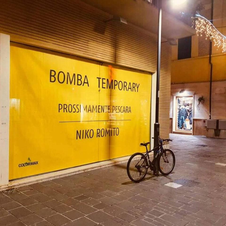 Arriva a Pescara Il TEMPORARY BOMBA di Niko Romito