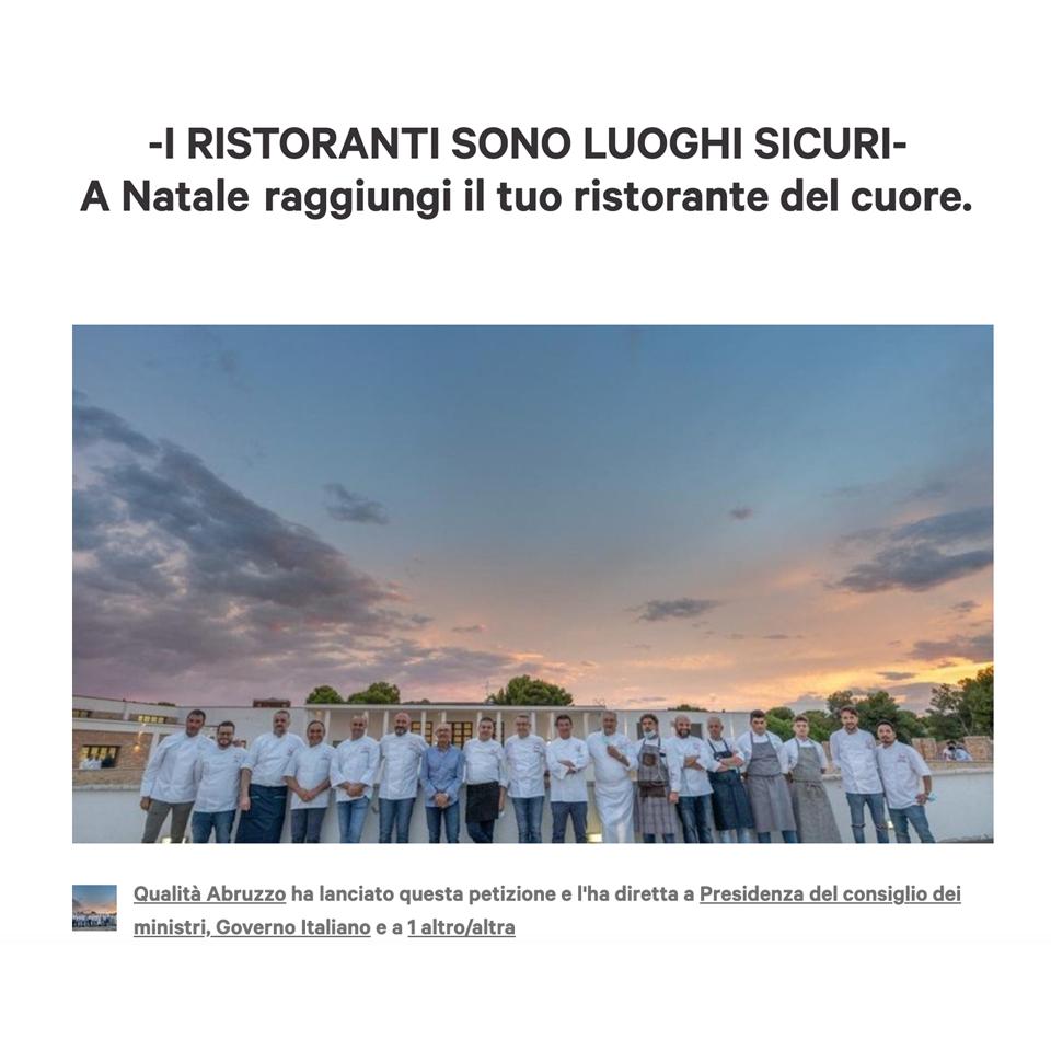 Qualità Abruzzo – Petizione vs blocco DPCM Natale
